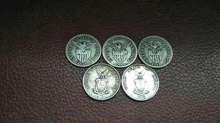 Uspi 20cent silver coins