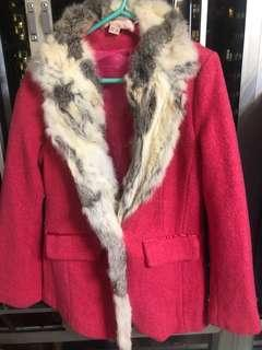 Dolly dimples real rabbit fur coat jacket