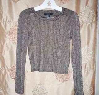 SWEATER CROP TOP by FOREVER21
