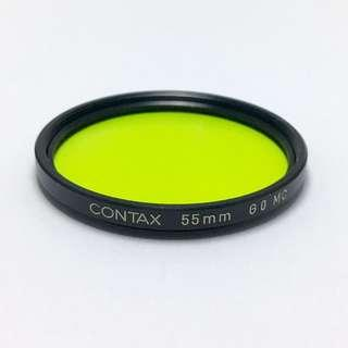 CONTAX 55mm G0 ( GREEN) MC filter, Made in Japan