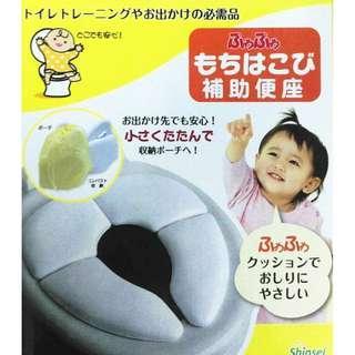 宅配免運費.攜帶型兒童馬桶舒適坐墊-附隨行袋