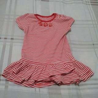 Mothercare dress red white stripes