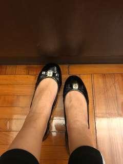 Tory Burch flats 平底鞋 魷魚鞋 黑色柒皮