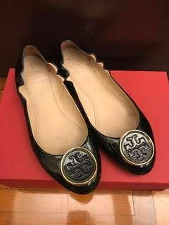 Tory Burch 平底鞋 flats black patent size 8.5
