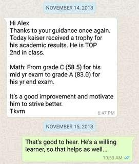 Mathematics Tuition (9 Years Experience)