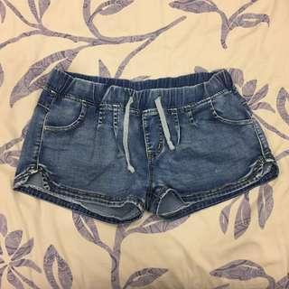 🚚 牛仔鬆緊短褲