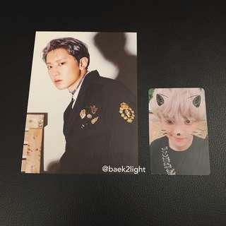 EXO <DONT MESS UP MY TEMPO> Chanyeol Moderato photocard + postcard (Domestic Version) #BlackFriday100