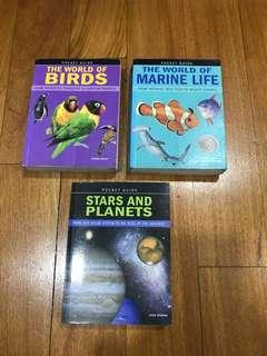 Pocket guides to birds, marine life and the universe.