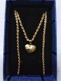 18k Saudi gold necklace 18 ""