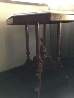 Antique solid teakwood Hexagon table
