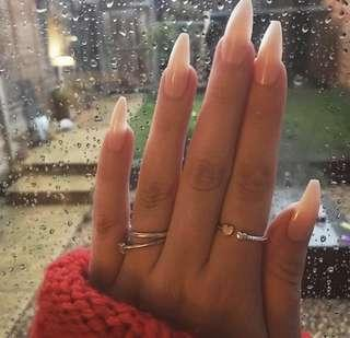 Fake Nails in Shimmer Frenchie