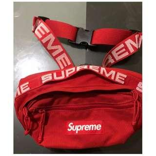 SUPREME WAISTBAG SS18 RED