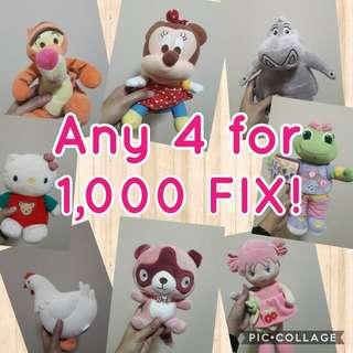 Doll sale any 4 for 1,0000