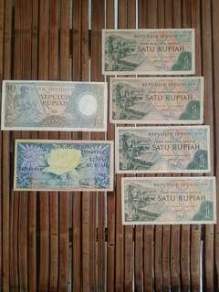 Uang Kuno 19 Rupiah Asli Uang Kertas Lama Indonesia Original