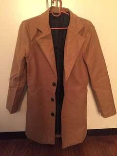 Wool Trench Coat Mid-Length