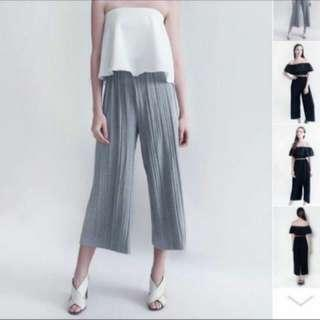 Grey Pleated Culottes!