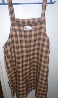Checkered long skirtdress