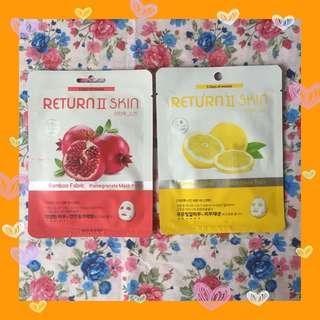 Return II skin sheet mask