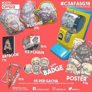 Gacha Catalogue   AFASG 2018   Booth CH102
