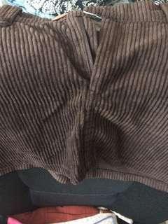 Vintage brown velvet skirt