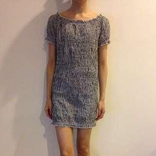 🆓📮 Plaid off shoulder dress