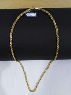 Saudi gold 18K Necklace 24""