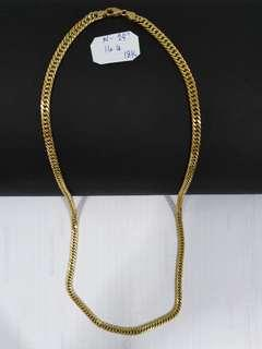 18k Saudi gold necklace 24 ""