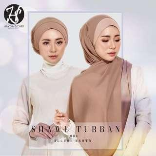 (READY STOCK) HAYDA SCARF- Shawl Turban