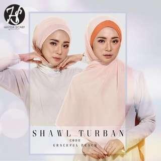 (READY STOCK) HAYDA SCARF- Shawl Turban
