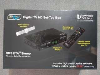 BNIB NewMedia Solutions Digital TV Setup Box with Active Antenna