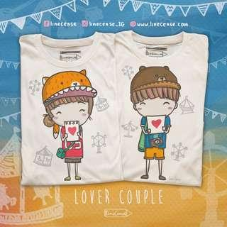 2x Cute Couple Boy Girl Lover T-Shirt Hand Drawn Very Comfy Light Organic Cotton