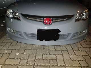 Honda civic FD bumper with Mugen lips
