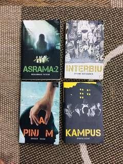 """4 Novel Fixi (""""Kampus"""", """" Interbiu """", """"Pinjam"""", """"Asrama 2"""")"""