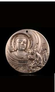 CHINESE BUDDHIST TIBETAN PENDANT MONKEY BELIEF