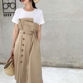 Brown Long dress Summer
