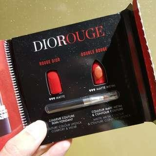 Authentic Dior Rouge 999 Lipcard