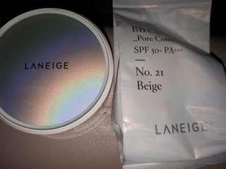 Laneige BB Cushion Pore Control no.21 beige cover n refill