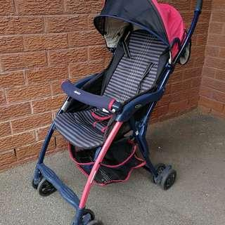 Aprica Super Lightweight Collapsible Japanese Stroller / Pram - Ideal for Travel