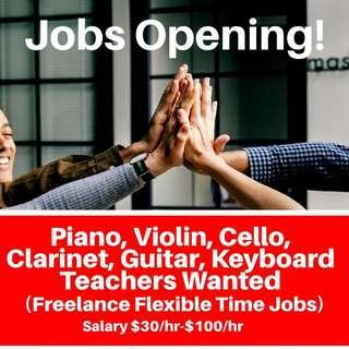 Music Instructors Wanted | Looking for Job | Weekend Jobs Part Time | Flexible Part Time Jobs Available | Jobs Part Time For Students Flexible Vacancy