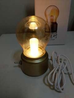 桌燈氣氛燈泡靈感USB接口燈