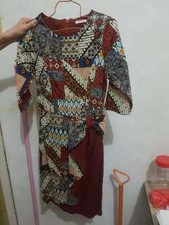 [PRLVD] Dress Batik Oren