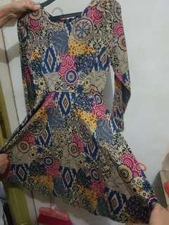[PRLVD] Dress batik biru