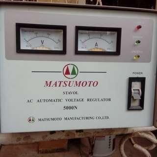 Stabilizer Matsumoto tipe 5000N daya maksimum 4000 watt