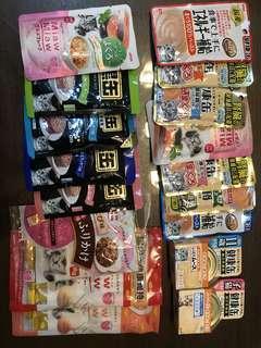 Cat food/treats assorted