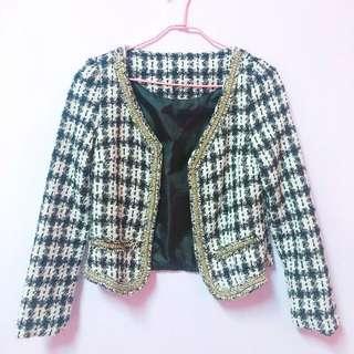 🚚 小香風格紋外套