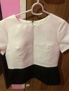White and black TOP blouse