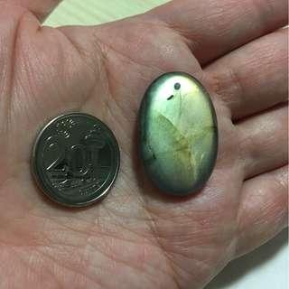 Labradorite pendant with drilled hole