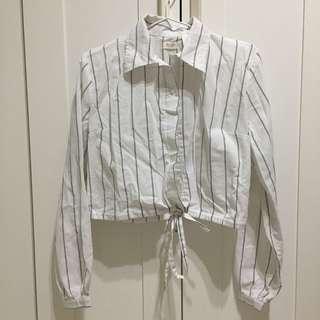Brandy Melville Striped Button Down Lenny Shirt