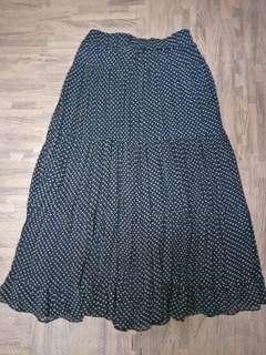 🚚 雪紡點點長裙 日系 森林系女孩#十一月女裝半價