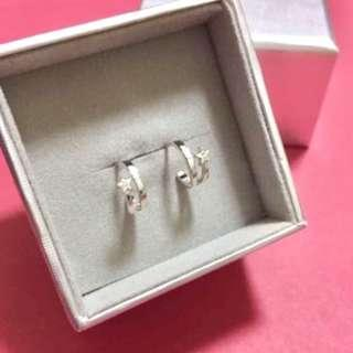 (NEW) Agnes b - 純銀925 Silver Swarovski Earrings